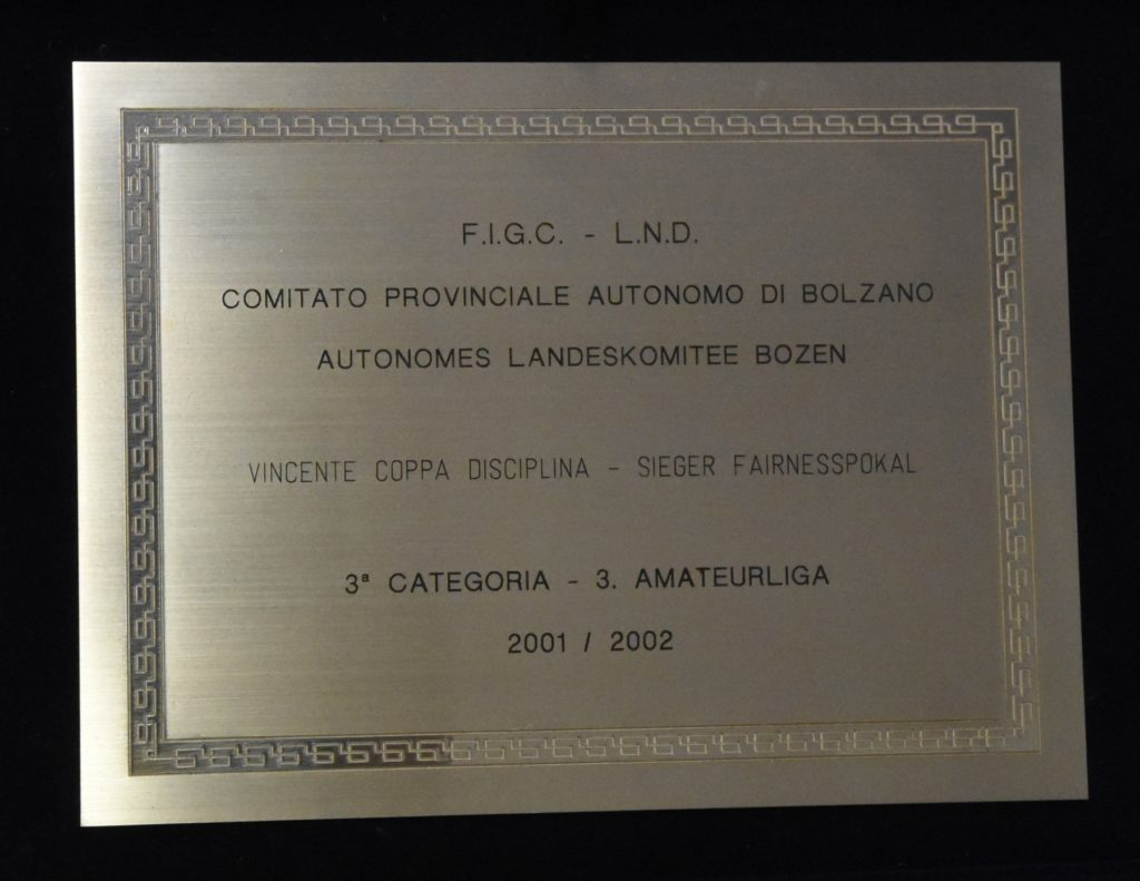 Coppa disciplina 2001-2002